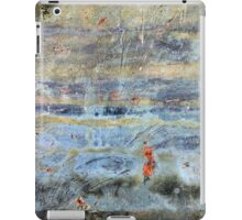 woman in a red dress jumps sky high iPad Case/Skin