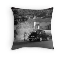 Morris Minor and the Waves !! Throw Pillow
