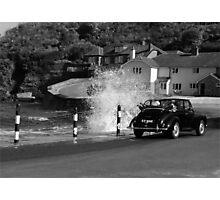Morris Minor and the Waves !! Photographic Print