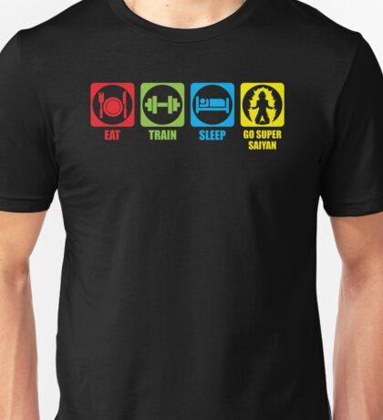 Eat, Train, Sleep, Go Super (Horizontal) Unisex T-Shirt