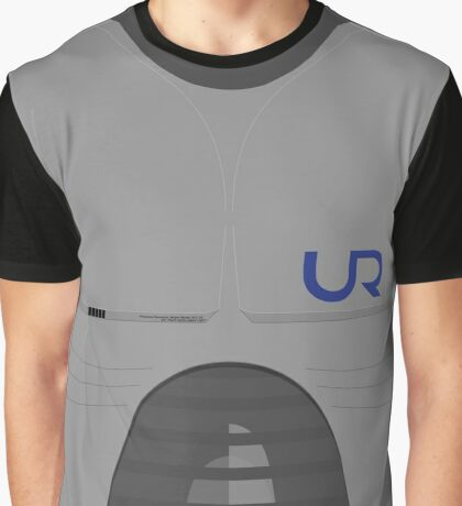 Robot Breastplate with United Robot Logo Graphic T-Shirt