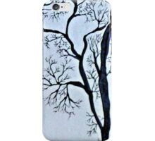 Trees in black and white iPhone Case/Skin