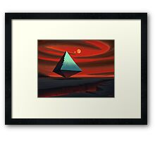Moon Pyramid Framed Print