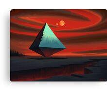 Moon Pyramid Canvas Print