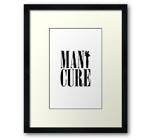 MANiCURE: Paws Up! Framed Print