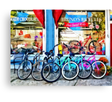 Allentown NJ - Bicycles and Chocolate Canvas Print