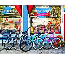 Allentown NJ - Bicycles and Chocolate Photographic Print
