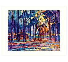 Mondrian Woods Near Oele Art Print