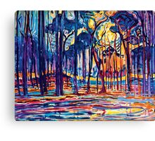 Mondrian Woods Near Oele Canvas Print