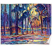 Mondrian Woods Near Oele Poster