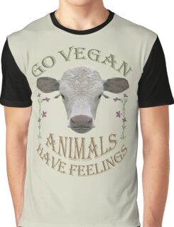GO VEGAN - ANIMALS HAVE FEELINGS Graphic T-Shirt
