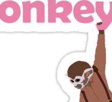 Were there monkeys? (pink) Sticker