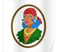 Yharrrrr Tough Pirate girl Poster