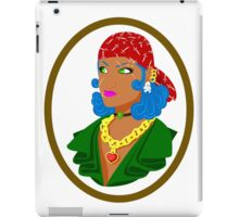 Yharrrrr Tough Pirate girl iPad Case/Skin