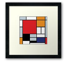 Mondrian Composition With Large Red Plane Framed Print