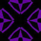 Purple and Black Design 2 by Julie Everhart by Julie Everhart