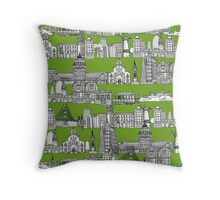 San Francisco green Throw Pillow