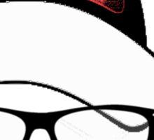 Hipster Santa Sticker