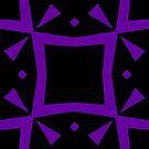 Black and Purple Design 3 by Julie  Everhart by Julie Everhart