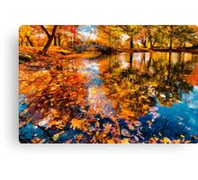 Boston Fall Foliage Reflection Canvas Print