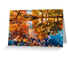 Boston Fall Foliage Reflection Greeting Card
