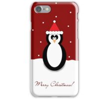Christmas Penguin Red Greeting Card/Phone Case. iPhone Case/Skin