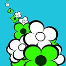 Lime Green and White Flowers by treasured-gift
