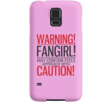 WARNING! FANGIRL (II) Samsung Galaxy Case/Skin