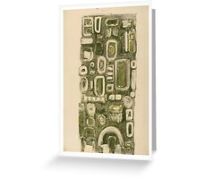 Green column Greeting Card