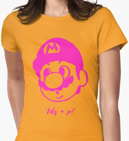 Super Mario Womens Fitted T-Shirt