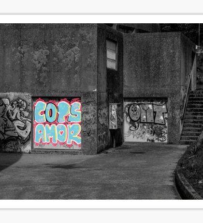 Cops Amor Grafiti Sticker