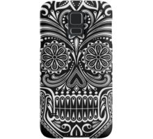 Intricate White and Black Sugar Skull Samsung Galaxy Case/Skin