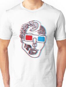 Hipster Zombie Now in Eye Popping 3D Unisex T-Shirt