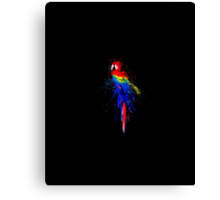 Beautiful Splash Parrot Canvas Print