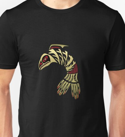 Pacific Northwest Black and Gold Salmon Icon Unisex T-Shirt