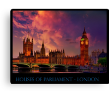 Houses of Parliament - London Canvas Print