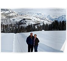 Julie and Byron in the US Rocky Mountains. Poster