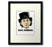 Bah, Humbug on White Framed Print