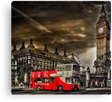 London Sightseeing Tours bus Canvas Print