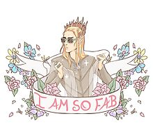 """I am so Fab"" Thranduil Photographic Print"