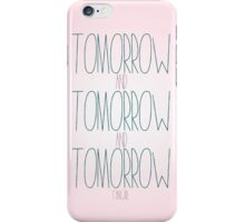 tommorow - fangirl iPhone Case/Skin