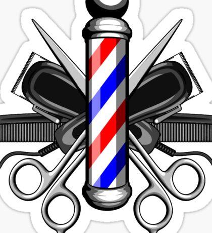 Barber Logo Sticker