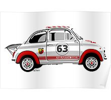 Racing Fiat Abarth 595 Poster