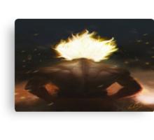 Goku's Aesthetic Back Canvas Print