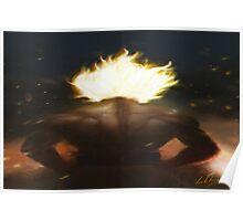 Goku's Aesthetic Back Poster