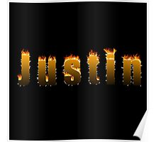 Justin Fire Poster
