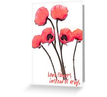 pink poppies Greeting Card