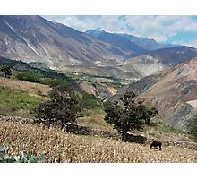 Andes near Yuracmarca, Peru Photographic Print