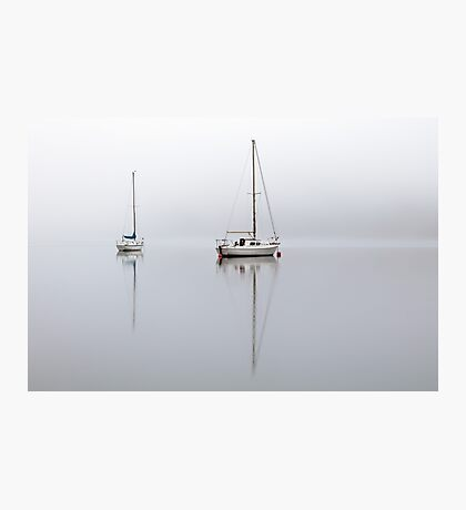 Misty Boats Photographic Print