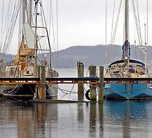 Yachts at Baretta - Tasmania by Paul Gilbert